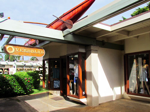 Poipu Shopping Village Overboard Store Front