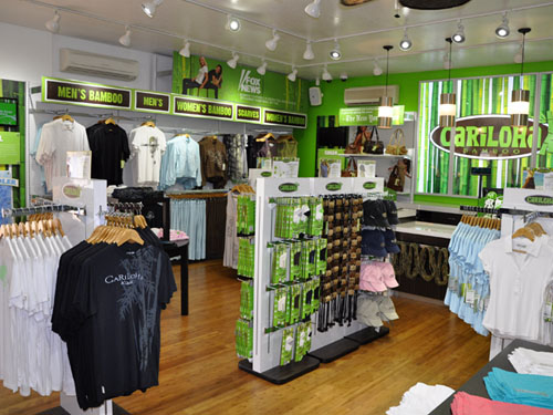 Cariloha Bamboo Inside Store